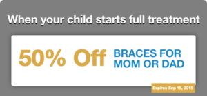 50% Off Braces for Mom or Dad