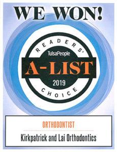 Tulsa Orthodontist - 2019 A-List Winner